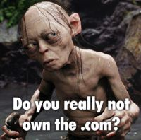 Gollum - have you bought the .com