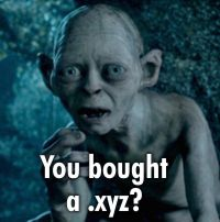 You bought a .xyz?